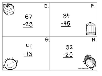 Addition Subtraction Task Cards