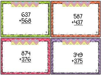 Addition & Subtraction Task Cards {3.NBT.2}