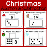 Christmas Math- Addition and Subtraction Practice