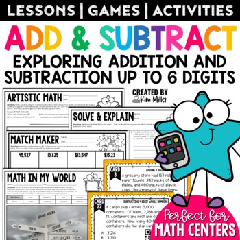 Word Problems: Addition and Subtraction Math Test Prep Task Cards