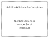 Addition & Subtraction Templates