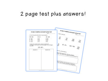 Grade 3 Addition & Subtraction Test