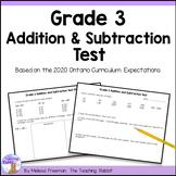 Addition & Subtraction Test (Grade 3)
