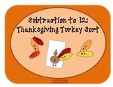Thanksgiving Turkey Sort COMBO: Addition & Subtraction