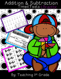 Addition & Subtraction Timed Tests- No Prep