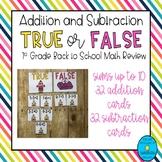 Addition & Subtraction True or False
