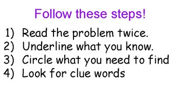 Addition/Subtraction Two Step Word Problems