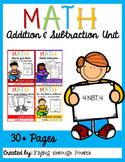 Addition & Subtraction Unit: Assessments, Practice, Games, Math Centers 4.NBT.4
