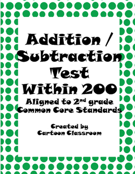 Addition Subtraction Unit Test