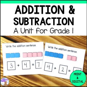Addition & Subtraction Unit for Grade 1 (Ontario Curriculum)