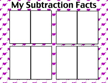 Addition & Subtraction Valentine Puzzles - Activity or Math Center