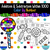 Addition & Subtraction Within 1000 Color By Number {Candyland Themed}