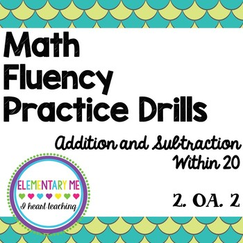 Addition & Subtraction Within 20 Drills / Practice - Differentiated 2.OA.2