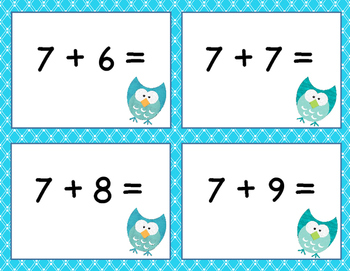 Addition & Subtraction Within 20 Math Center