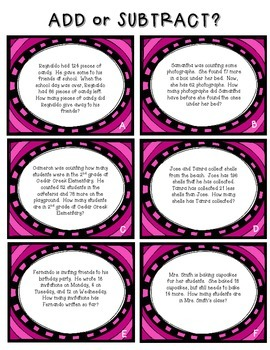 Addition & Subtraction Word Problem Pack