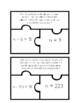 Addition/Subtraction Word Problem Task Card Puzzles