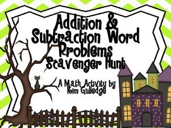 Addition & Subtraction Word Problem Scavenger Hunt for 2nd Grade 2.OA.A.1