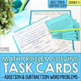 4th Grade Addition & Subtraction Word Problem Solving Math