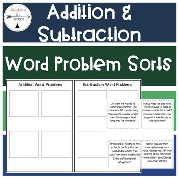 Addition & Subtraction Word Problem Sorts