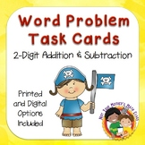 Word Problem Addition and Subtraction Task Cards with Digital Option