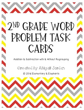 Addition & Subtraction Word Problem Task Cards