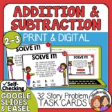 Math Word Problem Task Cards | Addition and Subtraction Story Problems