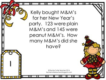 Addition & Subtraction Word Problem Task Cards Bundle - January Edition