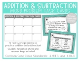 Addition & Subtraction Word Problem Task Cards English/Spanish