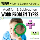 Addition & Subtraction Word Problem Types Introduction for Students (VIDEO)
