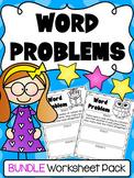 Addition & Subtraction Word Problem Worksheets - Kindergarten First Grade Bundle
