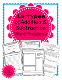 15 Types of Addition & Subtraction Word Problems