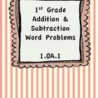 Addition & Subtraction Word Problems 1.OA.1 BUNDLE