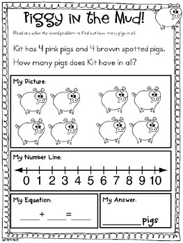 Addition & Subtraction Word Problems {Assisted Picture Pack}