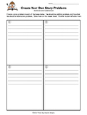 Addition - Subtraction Word Problems Creative Choice Partner Activity Worksheets