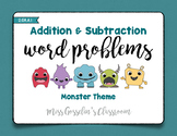 Addition & Subtraction Word Problems Mini-Unit Pack
