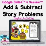 Addition & Subtraction Word Problems Google Slides & Seesa
