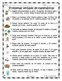 Addition & Subtraction Word Problems Spanish / Problemas v