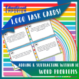 Addition & Subtraction Word Problems Task Cards (within 10)