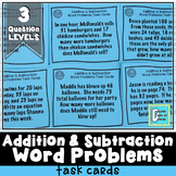 Addition and Subtraction Word Problems Task Cards