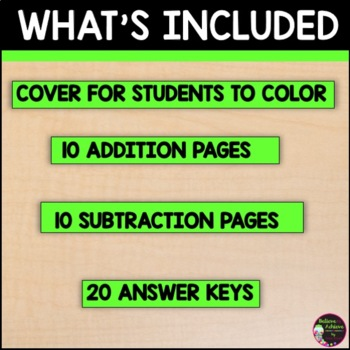 Addition & Subtraction Word Problems Within 20 Practice Sheets: Farm Theme