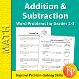 Addition & Subtraction Word Problems for Grades 2-3
