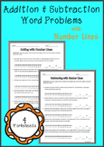 Addition & Subtraction Word Problems (with number lines)