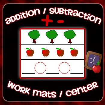 Addition & Subtraction Work Mats Center