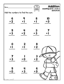Addition & Subtraction Worksheet Set (Sept. & Oct. Theme ...