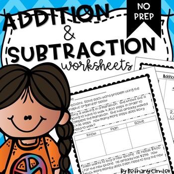 Addition & Subtraction Worksheets