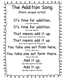 Addition, Subtraction, and Decompose Songs