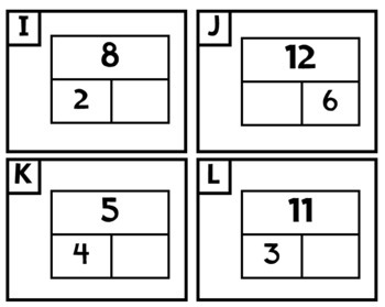 Addition, Subtraction, and Decomposing Task Cards (Mixed Problem Types)