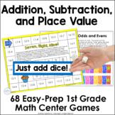 Remote Learning 1st Grade Math Easy Prep Games Bundle