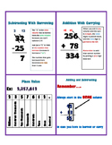 Addition Subtraction and Place Value Process Cards