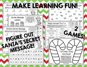 Differentiated Math Printables & Games for Christmas/Winter (Common Core)